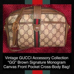 Vintage GUCCI Accessory Collection Monogram Bag!
